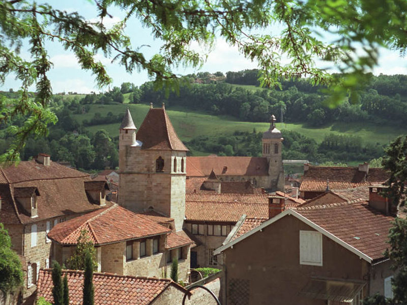 Figeac, ville d'Auvergne à proximité de la Chataigneraie