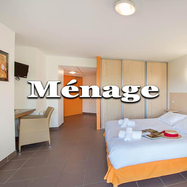 mesures sanitaires ménage chambre et parties communes Chataigneraie Cantal